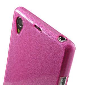 Kartáčované pouzdro na Sony Xperia Z1 C6903 L39- růžové - 6