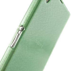 Kartáčované pouzdro na Sony Xperia Z1 C6903 L39- zelenmodré - 6