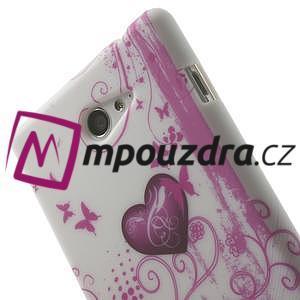 Gelové pouzdro na Sony Xperia M2 D2302 - dvě srdce - 6