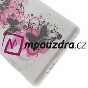 Gelové pouzdro na Sony Xperia M2 D2302 - motýlí květ - 6