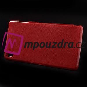 Gelové kartáčové pouzdro na Sony Xperia Z3 D6603 - červené - 6