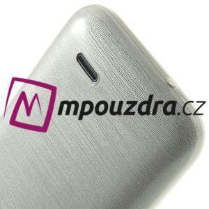 Gelové kartáčované pouzdro na HTC Desire 310- bílé - 6