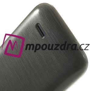 Gelové kartáčované pouzdro na HTC Desire 310- šedé - 6