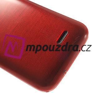 Gelové kartáčované pouzdro na HTC Desire 310- červené - 6