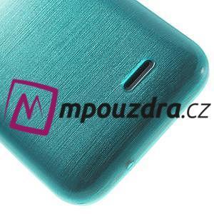 Gelové kartáčované pouzdro na HTC Desire 310- modré - 6