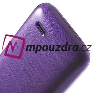 Gelové kartáčované pouzdro na HTC Desire 310- fialové - 6