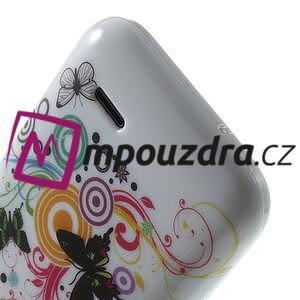 Gelové pouzdro na HTC Desire 310- barevné motýlci - 6