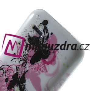 Gelové pouzdro na HTC Desire 310- motýl květ - 6