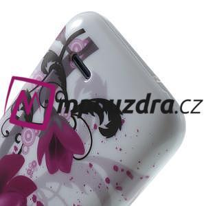 Gelové pouzdro na HTC Desire 310- fialový květ - 6
