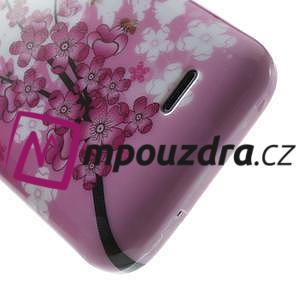 Gelové pouzdro na HTC Desire 310- kvetoucí větvička - 6