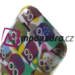 Gelové pouzdro na HTC Desire 310- barevné sovy - 6
