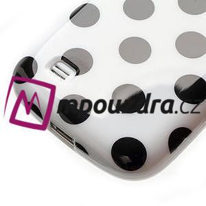 Gelový Puntík pro Samsung Galaxy S4 mini i9190- bílé - 6