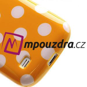 Gelový Puntík pro Samsung Galaxy S4 mini i9190- oranžové - 6