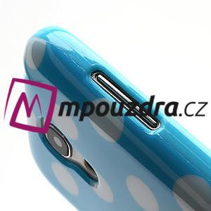 Gelový Puntík pro Samsung Galaxy S4 mini i9190- modrá - 6