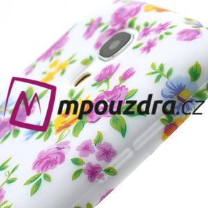 Gelové pouzdro pro Samsung Galaxy S4 mini i9190- elegantní květina - 6