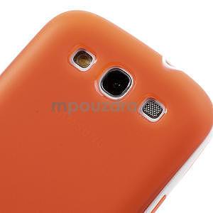 Gelové rámované pouzdro na Samsung Galaxy S3 i9300- oranžové - 6