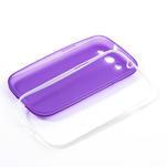 Gelové rámované pouzdro na Samsung Galaxy S3 i9300- fialové - 6/6