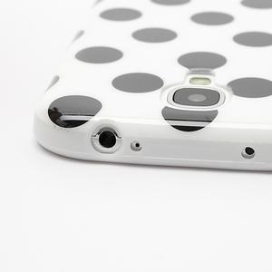 Gelové Puntík pouzdro na Samsung Galaxy S4 i9500- bílé - 6