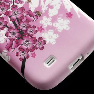 Gelové pouzdro pro Samsung Galaxy S4 i9500- kvetoucí švestka - 6