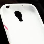 Gelové pouzdro pro Samsung Galaxy S4 i9500- červený květ - 6/7