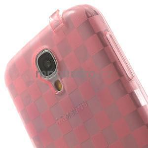 Gelpvé kosočvercové pouzdro na Samsung Galaxy S4 i9500- růžové - 6