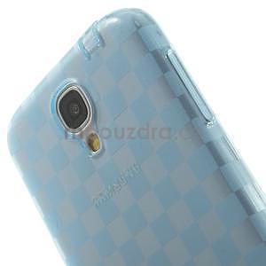 Gelové kosočvercové pouzdro na Samsung Galaxy S4 i9500- modré - 6