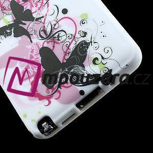 Gelové pouzdro na Samsung Galaxy Note 3- květinka motýl - 6