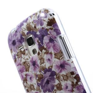 Gelové pouzdro na Samsung Galaxy Trend, Duos- fialové květy - 6