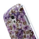 Gelové pouzdro na Samsung Galaxy Trend, Duos- fialové květy - 6/6