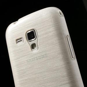 Kartáčované pouzdro na Samsung Galaxy Trend, Duos- bílé - 6