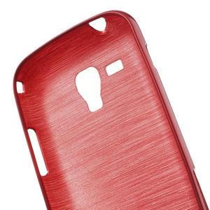 Kartáčované pouzdro na Samsung Galaxy Trend, Duos- červené - 6