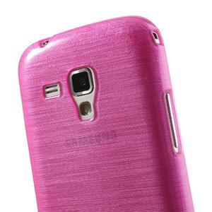 Kartáčované pouzdro na Samsung Galaxy Trend, Duos- růžové - 6