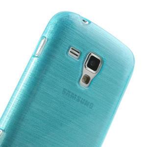 Kartáčované pouzdro na Samsung Galaxy Trend, Duos- modré - 6