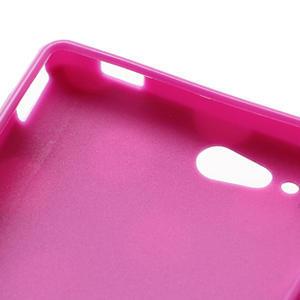 Gelové PUNTÍK pouzdro na HTC Desire X- fialový - 6