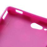 Gelové PUNTÍK pouzdro na HTC Desire X- fialový - 6/6