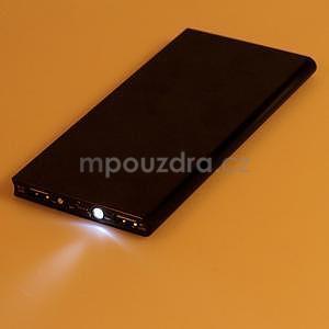 Luxusní kovová externí nabíječka power bank 12 000 mAh - černá - 6