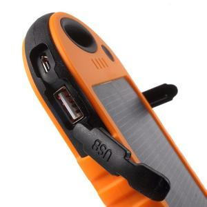 Outdoor GX vysokokapacitní externí solární nabíječka 12 000 mAh - oranžová - 6