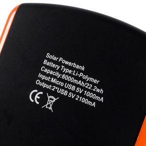 CEX solární externí nabíječka 6 000 mAh - oranžová - 6
