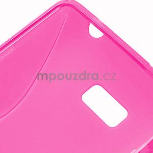 Gelové S-line pouzdro pro HTC Desire 600- růžové - 6