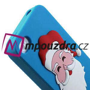 Silikonové pouzdro na iPhone 4 4S - Santa Claus - 6