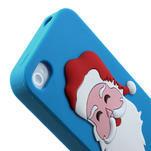Silikonové pouzdro na iPhone 4 4S - Santa Claus - 6/6