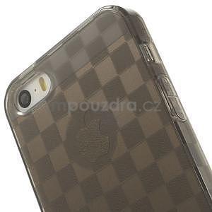 Gel-koskaté pouzdro pro iPhone 5, 5s- šedé - 6