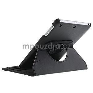 PU kožené 360 °  pouzdro pro iPad mini-černé - 6