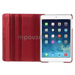 PU kožené 360 °  pouzdro pro iPad mini- červené - 6