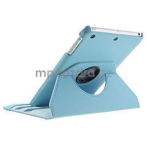 PU kožené 360 °  pouzdro pro iPad mini- modré - 6
