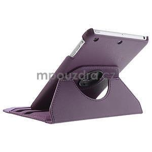 PU kožené 360 °  pouzdro pro iPad mini- fialové - 6
