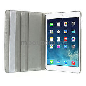 PU kožené 360 °  pouzdro pro iPad mini- bílé - 6