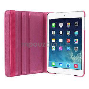 PU kožené 360 °  pouzdro pro iPad mini- růžové - 6