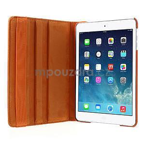 PU kožené 360 °  pouzdro pro iPad mini- oranžové - 6