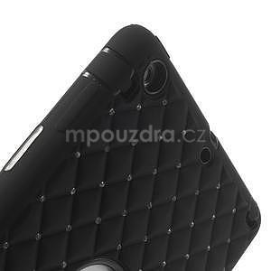 Hybridní kamínkové pouzdro pro iPad mini- černé - 6